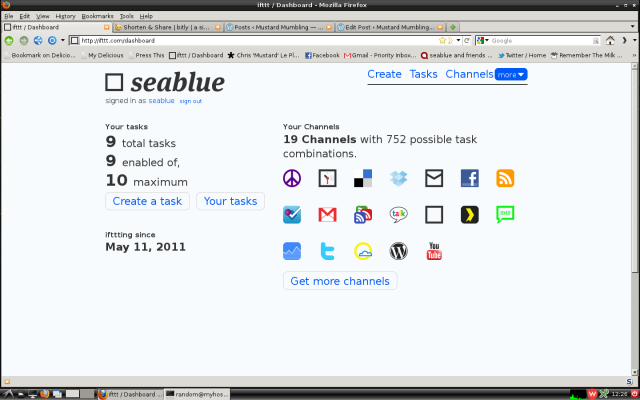 A screenshot of the ifttt dashboard
