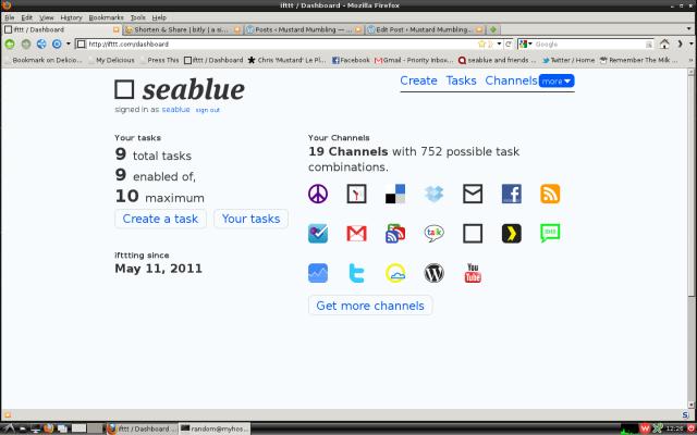 A screenshot of the ifttt dashboard